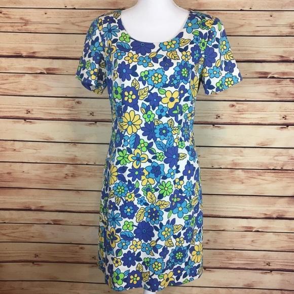 b54a67b63 Liz Claiborne Vintage 80s Floral Dress Mod 8. M 5a52c9a7331627c71b00924b
